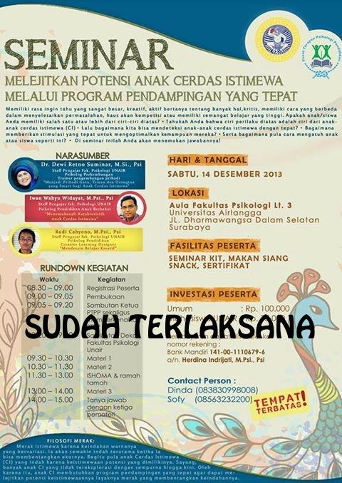 Poster Seminar PTPP2 Mari Bergabung dalam Seminar Pendidikan ini!